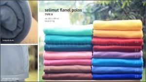 Flanel Polos 160x180