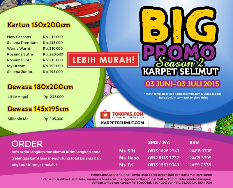 Big Promo Karpet Selimut Juni 2015