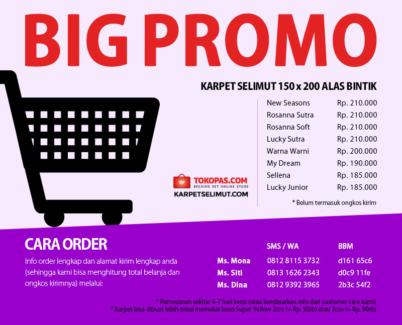 Big Promo Karpet Selimut