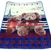 Karpet Selimut MD Bear Paris Cream