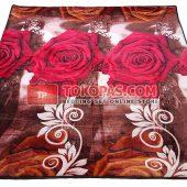Karpet Selimut Bulu Lembut Little Angel LA Rose Coklat