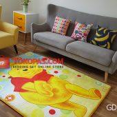 Karpet Selimut Karakter Golden GD Pooh Malu