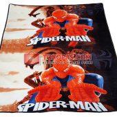 Karpet Selimut JN Spiderman Coklat