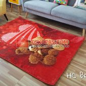 Karpet Selimut Karakter Happy Castle HC Bear Love