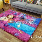 Karpet Selimut Karakter Happy Castle HC Frozen Pink