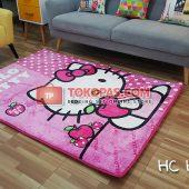 Karpet Selimut Karakter Happy Castle HC Hello Kitty Apel