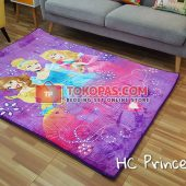 Karpet Selimut Karakter Happy Castle HC Princess Ungu