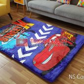 Karpet Selimut New Seasons Karakter NS Cars Biru