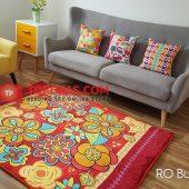 Karpet Selimut Karakter Rosanna RO Bunga Merah