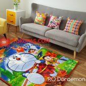 Karpet Selimut Karakter Rosanna RO Doraemon Prehistoric
