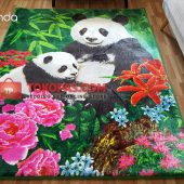 Karpet Selimut Karakter Rosanna RO Duo Panda