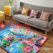 Karpet Selimut Karakter Rosanna RO Merak Kembang