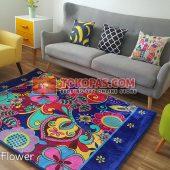 Karpet Selimut Karakter Rosanna RO Modern Flower