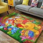 Karpet Selimut Karakter Rosanna RO Pooh Rainbow