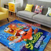 Karpet Selimut Karakter Rosanna RO Spongebob Biru