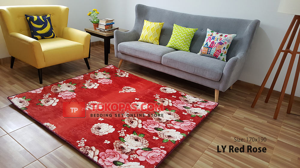 Karpet Selimut Lucky LY Red Rose