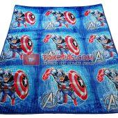 Karpet Selimut Bulu Lembut Murah Junior JN Captain America