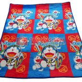 Karpet Selimut Bulu Lembut Murah Junior JN Doraemon Warrior