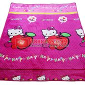 Karpet Selimut Bulu Lembut Murah Junior JN Hello Kitty Apel