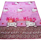 Karpet Selimut Bulu Lembut Murah Junior JN Hello Kitty Tutul