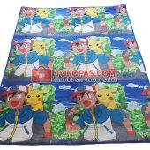 Karpet Selimut Bulu Lembut Murah Junior JN Pokemon Go