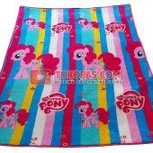 Karpet Selimut Bulu Lembut Murah Junior JN Pony Garis