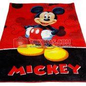 Karpet Karakter Selimut NP Mickey Red Velvet