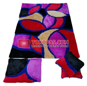 Karpet Rasfur Autumn Leaves Dasar Hitam