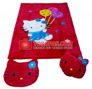 Karpet Rasfur HK. Balon Dasar Merah