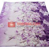 Karpet Selimut Jumbo Hibiscus Purple