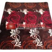 Karpet Selimut LA Rose Coklat