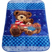 Karpet Selimut MD Bear Biru