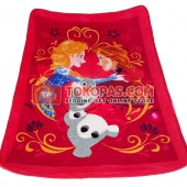 Karpet Selimut Mini Frozen Merah