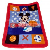 Karpet Selimut Mini Mickey Sport
