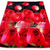 Karpet Selimut SE Black Red Tulip