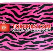 Keset Selimut Zebra Pink