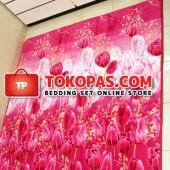 Karpet Selimut LA Tulip Merah