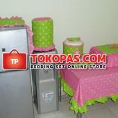 Sarung Galon Kulkas Magiccom Homeset Dottie Pink Hijau