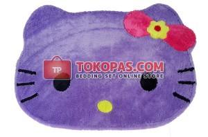 Karpet Bulu Rasfur / Boneka Bulu Kepala HK. Ungu Muda Pita Fanta