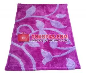 Karpet Bulu Rasfur / Bulu Boneka Bunga Rambat Lilac Dasar Barney