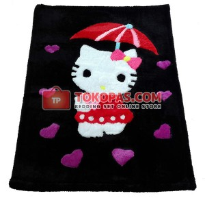 Karpet Bulu Rasfur / Boneka Bulu HK. Payung Baju Merah