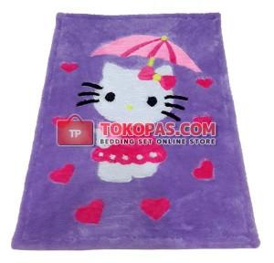 Karpet Rasfur / Bulu Boneka HK. Payung Dasar Lilac