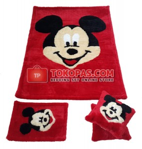 Karpet Rasfur Mickey Dasar Merah