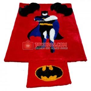 Karpet Rasfur Batman Dasar Merah