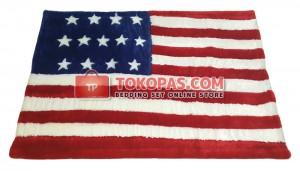 Karpet Rasfur / Bulu Boneka Bendera Amerika