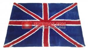 Karpet Rasfur / Bulu Boneka Bendera Inggris
