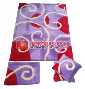 Karpet Rasfur / Bulu Boneka Centro Dasar Lilac