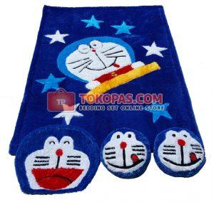 Karpet Rasfur Doraemon Star Dasar Biru BCA
