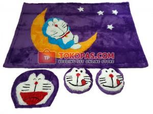 Karpet Rasfur Doraemon Bulan Dasar Ungu Tua