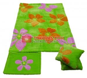 Karpet Rasfur Flowers Dasar Hijau Midori